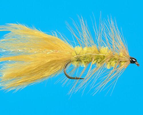 size 14 Medium Olive Wooly Bugger 6 pcs