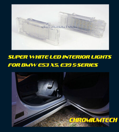 Super White LED Interior Footwell Underdoor Lights FOR BMW E53 X5 E39 5-Series