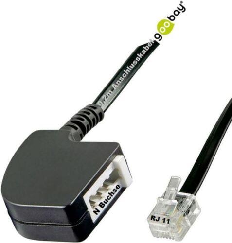 goobay® TAE Adapter RJ11 Stecker /> TAE F oder N Buchse Ihre Auswahl