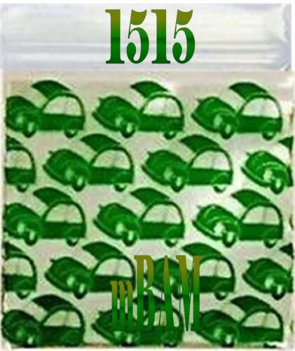 "100 PACK YELLOW CABBIES CARS TAXI CAB 15125 APPLE MINI ZIP BAGGIES 1.5x1.25/"""