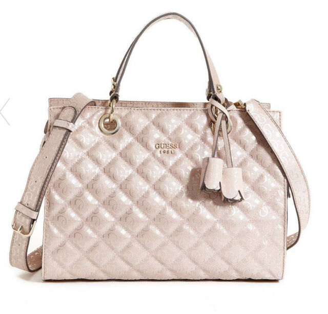 GUESS Seraphina Satchel Handbag Purse Quilted