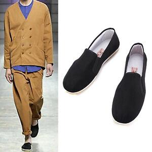 Martial Arts Kung Fu Shoes Black Non Slip Chinese Tai-Chi Cotton Leisure Wear