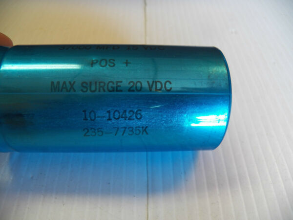 MALLORY CAPACITOR TYPE CG 37000 MFD 15 VDC MAX SURGE 20 VDC