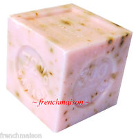 3 Savon De Marseille French Provence Crushed Rose Flower Soap Handmade 300g