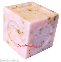 6 Savon De Marseille French Provence Crushed Rose Flower Soap Handmade 300g