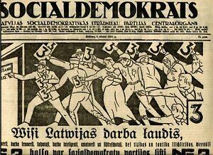 1928-Avant-Garde-Latvian-Proletarian-Art-Newspaper-Social-Democrat-Latvia