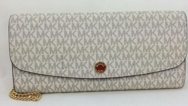 b68e180b105947 New Authentic Michael Kors MK Juliana Large Three-In-One Wallet Vanilla PVC