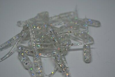 """JASONS CRAPPIE DAGGER 2/"""" 30 PACK GRUB CRAPPIE LURES JIGS SMOKE SPARKLE"""