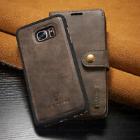 Leather Removable Wallet Magnetic Flip Case Cover Samsung Galaxy Note 8 S8 Plus