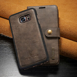 best service 4812a a57e3 Details about For Galaxy S10/S9/S8/S7/Note 9/8 Leather Removable Wallet  Magnetic Case Cover