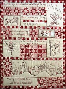 Twas The Night Before Christmas Bom Stitchery Pattern By Hugs N