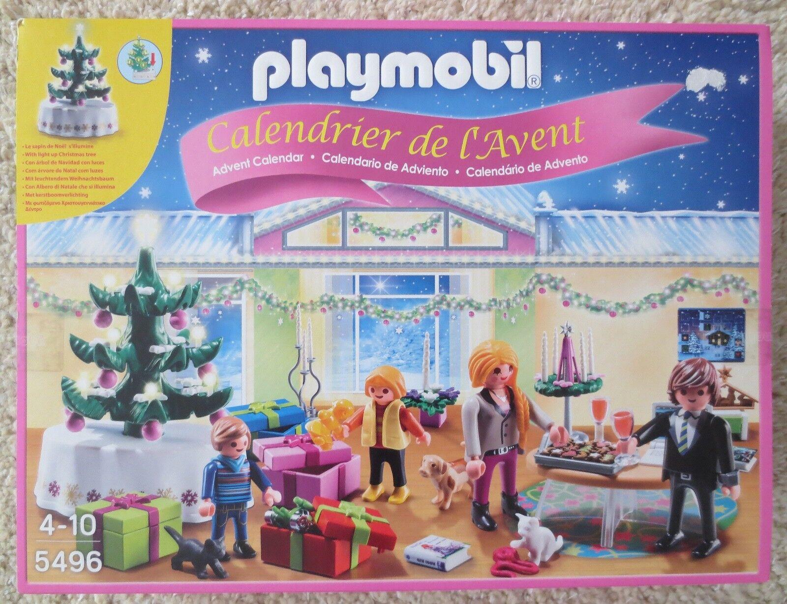 OV Playmobil Adventskalender 5496 Weihnachtsabend, beleuchteter Baum  | Modern Und Elegant In Der Mode