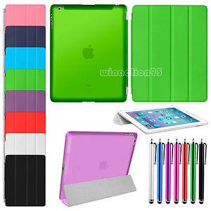 Slim-Flip-Magnetic-Leather-Smart-Cover-Hard-Back-Case-For-Apple-iPad-4-3-2-Gen