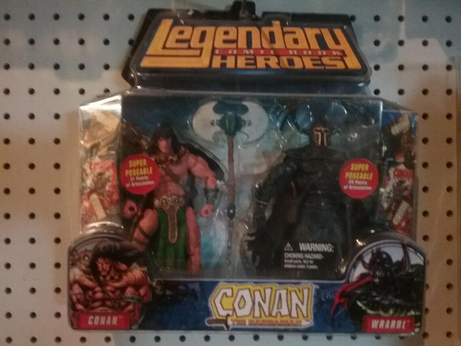 Legendary Heroes Comic libro Conan vs Wrarrl Super Posable nuovo