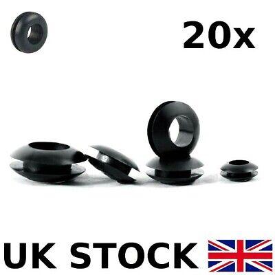 mount 9mm black through sockets øöffn Grommet rubber øöffn 6,5mm