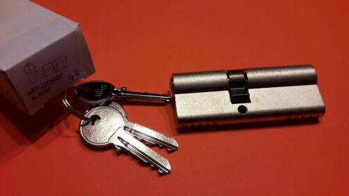 35//45 MTS Profilzylinder vernickelt Schließzylinder Türzyl 3 Schlüssel Schloss