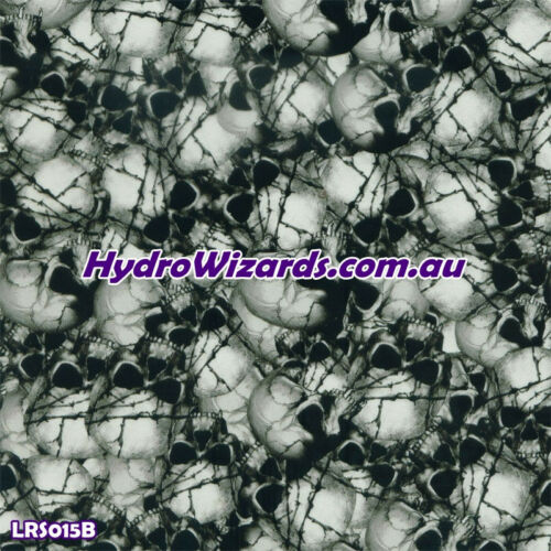 1m² Hydrographic SKULLS FILM LRS015B Hydro Dip Water Transfer Print Graphic