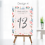 Personalised-Wedding-Table-Numbers-Floral-Theme-Party-Name-Cards-A5-A6-A7 thumbnail 9