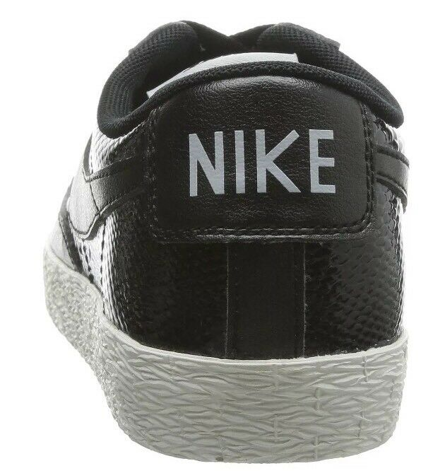 NIKE Blazer Blazer Blazer Low LEATHER Premium Black Ash Grey SNAKESKIN Wmns shoes Sz 9.5  90Rtl d8c889