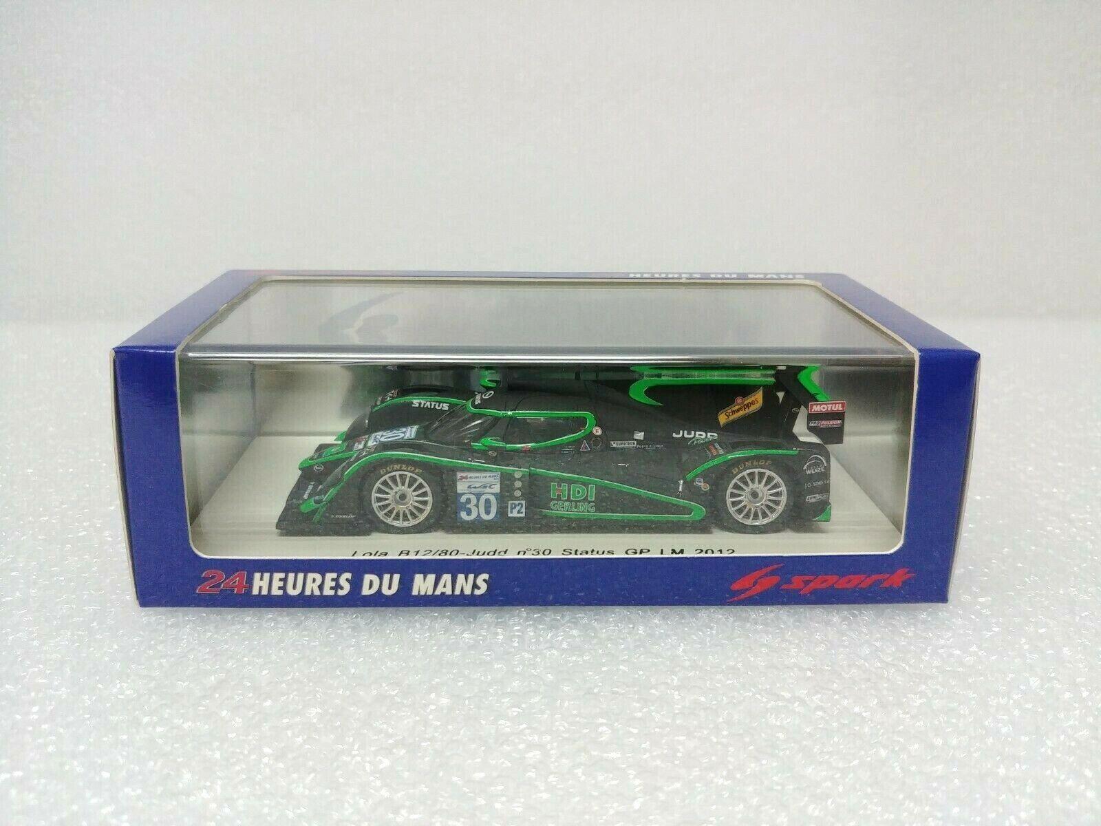 venta al por mayor barato Lola Lola Lola B12 80 - Judd No.30 Estado Grand Prix Le Mans 2012 Spark MODEL 1 43  S3715  alta calidad