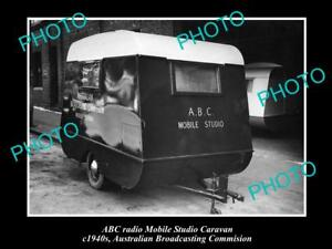 OLD-HISTORIC-PHOTO-OF-ABC-RADIO-CARAVAN-AUSTRALIAN-BROADCASTING-COMMISION-1940s