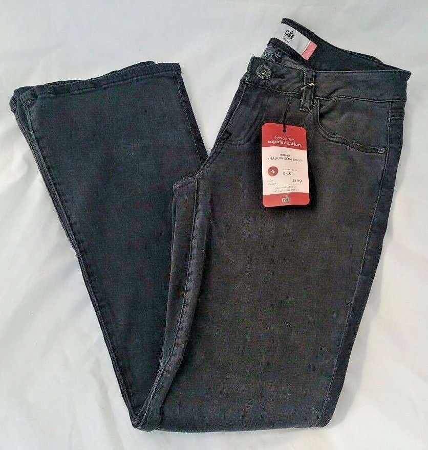 Cabi Shadow Slim Boot Jeans Regular Size 4
