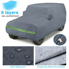 6 Layer Car Cover For Jeep Wrangler Cjyj Tj Amp Jk 2 Door All Weather Protection Fits Jeep