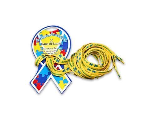 2 pairs Autism Awareness Shoe Laces