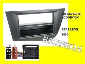 Marc-Soporte-radio-Seat-leon-2005-Kit-conexion-seat-1din-o-2din-negro-o-gris