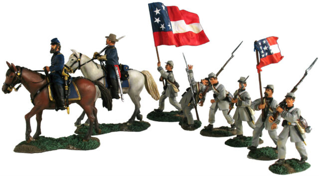 """BRITAINS 31139 """"Baptism at Manassas"""" Jackson and Officer Mounted & Six Infantry"""