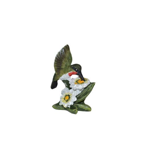 Miniature Dollhouse FAIRY GARDEN Accessories Hummingbird Dark Green