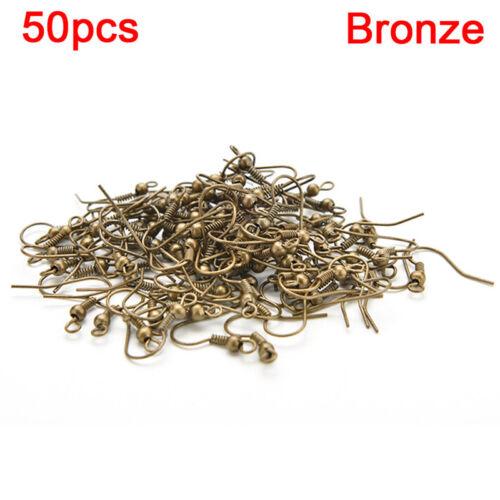 Fashion Plated Silver Earring Hook Coil Ear Wire For Jewelry Making Ear Hook# KK