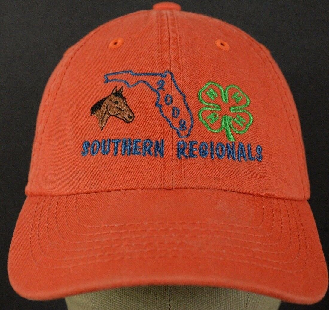 Southern Hat Regionals 2008 Orange Baseball Hat Southern Cap and Adjustable Strap 4ff88a