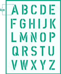 Buchstabenschablone Nr.2 Druck Buchstaben 1cm Schablone ABC Alphabet Schrift