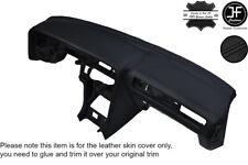 BLACK STITCH LEATHER DASH DASHBOARD SKIN COVER FITS TOYOTA SUPRA MK3 1986-1993