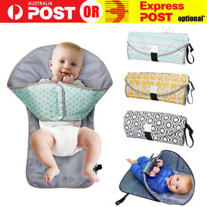 Waterproof-Portable-Baby-Diaper-Travel-Home-Change-Changing-Mat-Pad-Nappy-Bag-AU