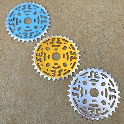 SE RACING 39T CHAINRING WITH SPIDER ALLOY BMX BIKES CRUISER SPROCKETS GT SE HARO