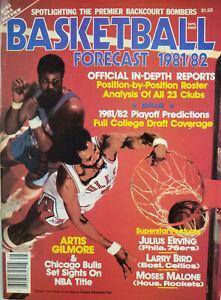 Basketball Forecast 1981-82 Magazine Artis Gilmore Julius Erving Larry Bird NoML