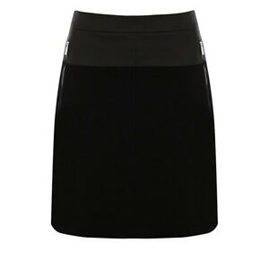 Women-039-s-Karen-Millen-Black-Cotton-Skirt-UK-Size-12-US-Size-8