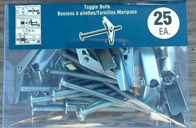 """Toggle Bolts Lot of 250-3//16/"""" x 3/"""" Blue Hawk #0326595"""