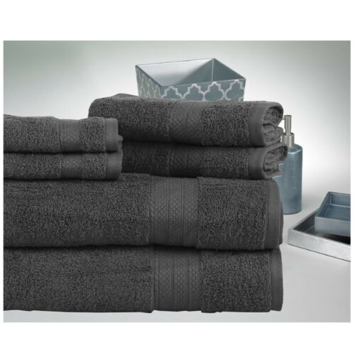 Affinity Home Soft Combed Cotton Absorbent Quick Dry 6-pc Loop Towel Set NEW