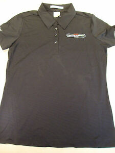 NEW NikeGolf Womens Nike Dri Fit Black Polo Shirt Solid Black T ... c078872862