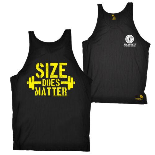 FB Gym Bodybuilding Vest Novelty Birthday Bella Singlet Top Size Does Matter
