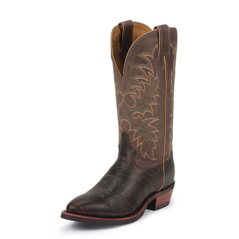 Tony Lama Men's KRAUSS BROWN Cowboy Boot Medium Round Toe Rubber Outsole - 7951