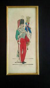 Rare tirage numéroté Image Epinal Pellerin Chasseur à cheval n°143/150 Imagerie