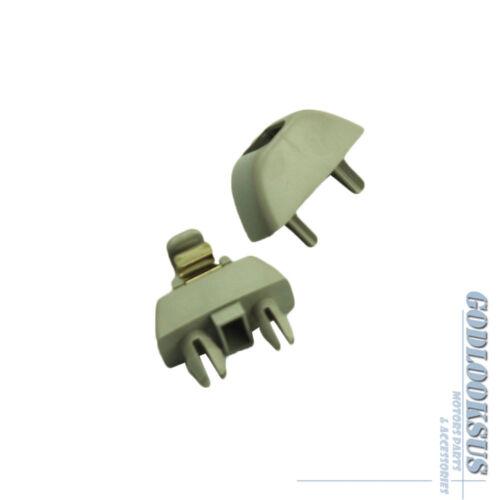 Interior SunVisor Hook Clip New Dark Beige Color 4F0857561 For Audi A6 S6 A8 S8