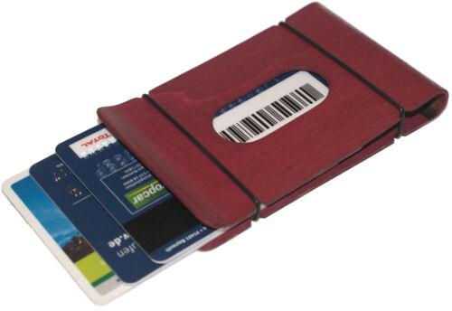 Cusperi ® denaro parentesi ASTUCCIO carteASTUCCIO carte di creditoSLIM WALLET dal vero legno