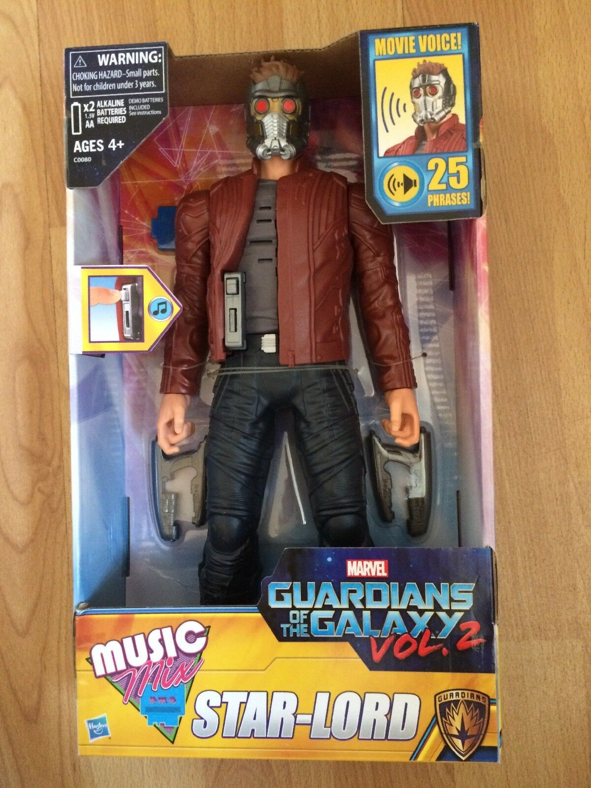 MIB  2016 Marvel Guardians of the Galaxy Music Mix Star-Lord Action Figure