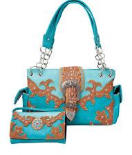 Item 2 Western Handbag Multi Color Longhorn Buckle Carry Concealed Purse And Wallet Set
