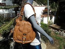 Scully Leather H644 Tan Leather Women's Western Handbag